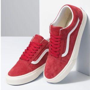 Vans Old Skool Pig Suede Sneaker: Chili Pepper Red
